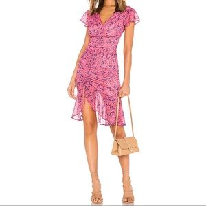NEW in package - pink frill midi dress